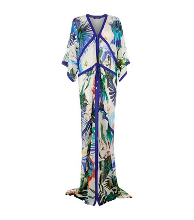 Photo: Roberto Cavalli Tropical Print Kaftan/Harrods