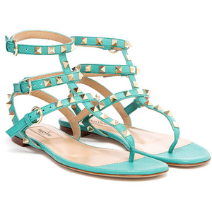 Photo: Valentino Rockstud Gladiator Sandal/Harrods