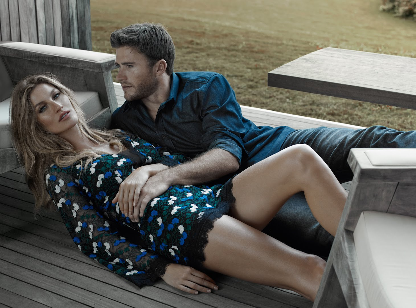 Gisele Bündchen and Scott Eastwood for Colcci
