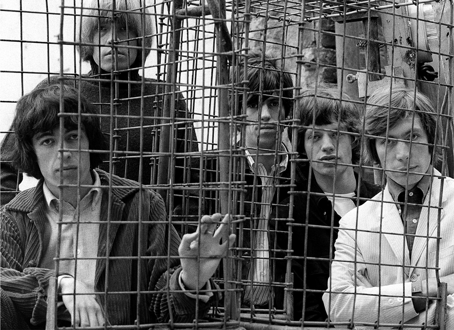 The Rolling Stones Caged Ormond Yard London 1965© Gered Mankowitz