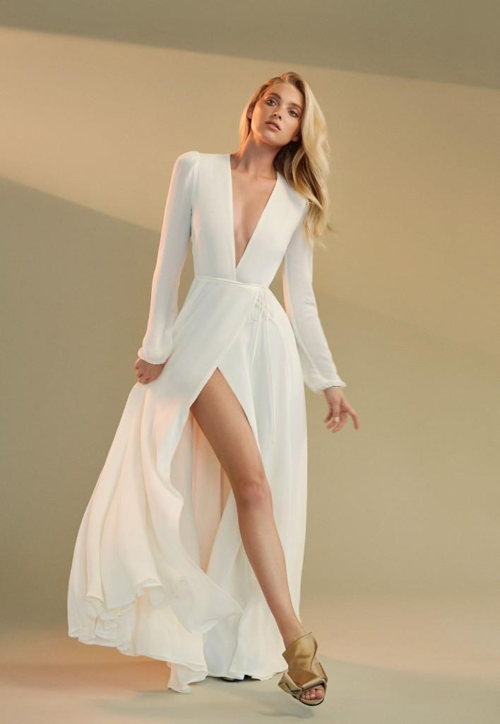 Elsa Hosk Models Occasion Dresses for Reformation Fall ...