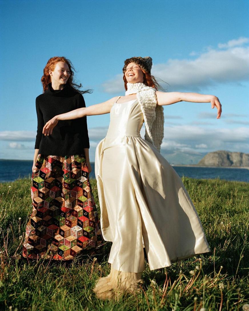 © Bruce Weber | Sunniva Stordahl and Marianne Schroder, Aeslund, Norway 1998