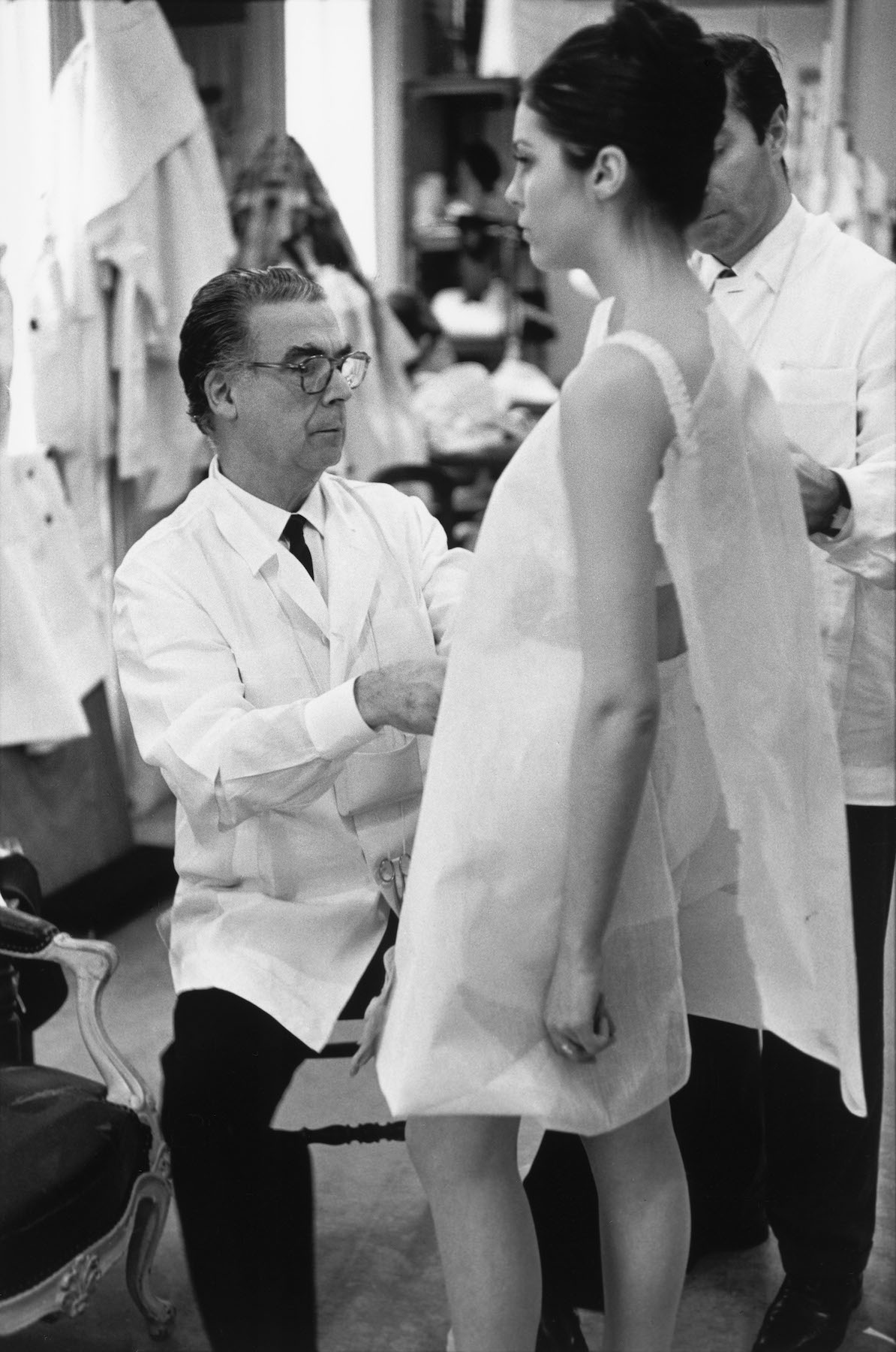 Henri Cartier-Bresson (1908 – 2004) | Cristóbal Balenciaga at work, Paris, 1968 | © Henri Cartier-Bresson / Magnum Photos | V&A Museum